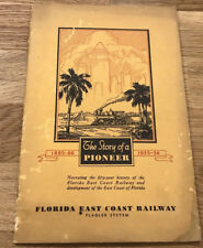 1935 Booklet The Story Of a Pioneer, Florida East Coast Railway Railroad book