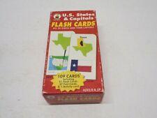 US States & Capitals Flash Cards Carson Dellosa COMPLETE
