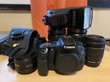 Canon EOS 60D 18.0MP DSLR Camera Canon 50/18-55/28-135/50mm Tamron 28-75mm MORE!
