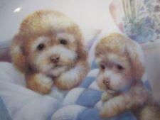 "Danbury Mint Collectors Plate"" Bedtime Fun"" ""Puppy Pals"" Plate No A317 c) 1989"