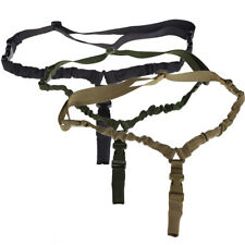 1000D Tactical One 1 Single Point Sling Adjustable Bungee Rifle Gun Sling Strap