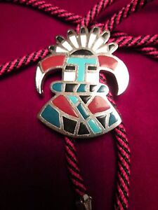 BOLO TIE ( south west kachina Head ) (VINTAGE )