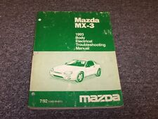 1993 Mazda MX3 Hatchback Body Electrical Wiring Diagram Manual GS