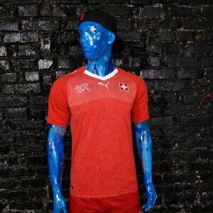 Switzerland Team Jersey Home football shirt 2018 - 2020 Red Puma Mens Size M
