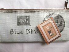 Bent Creek- Zipper- Blue Bird -Cross Stitch Chart w/fabric, perle cotton, button