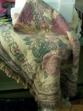 New Avon Reversible Flower Throw Afghan with Gift Bag