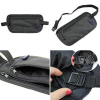 JN_ New Unisex Travel Security Zipped Money Bum Pouch Passport Waist Belt Bag