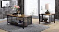 Acme Furniture Coffee Table-Antique Oak & Black Taiwan