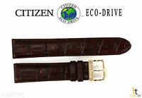 Citizen Eco-Drive AU1043-00E 20mm Brown Leather Watch Band Strap S070937