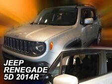 2 Deflettori Aria Antiturbo Jeep Renegade 2014 in poi 5 porte
