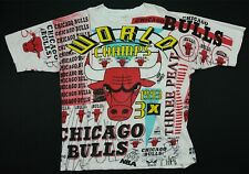 Rare Vintage MAGIC JOHNSON Chicago Bulls 1993 Finals All Over Print T Shirt 90s