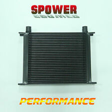 30 ROW AN10 Universal Aluminum Engine Transmission Oil Cooler Mocal Style Black