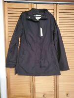 A New Day Water Resistant Black Packable Hooded Jacket NWT Women's Size S