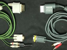 Official Xbox 360 VGA HD AV Monitor Cable W Adapter To 3.5 Headphone Jack +intec