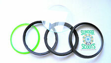 5 Stück Ersatz schwarz Tacho Felge & Glas Linsen hergestellt für Vespa P200E