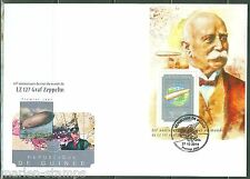 GUINEA 2014 85th ANNIVERSARY OF GRAF ZEPPELIN ROUND THE WORLD FLT S/s FDC