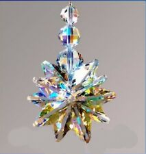 Extra Large Crystal AB Star Cluster Suncatcher made with Swarovski Crystals