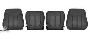 2011 Ford F250 Lariat-Driver & Passenger Side Complete Leather Seat Covers Black