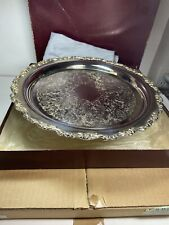 "Vintage Large 12.5"" Serving Tray Royal Provincial Oneida Silverplate In Boxes"
