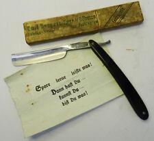 Antikes Rasiermesser 29 Emil Bangert Eger Solingen Germany mit Schachtel