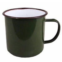 240ml Vintage Style Enamel Cup Mug for Drinking Coffee Bear Tea Camping Hiking