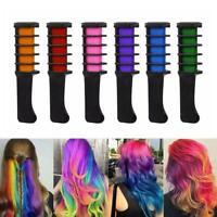 6PCS Temporary Hair Chalk Hair Color Brush Comb Dye Fans Salon Cosplay Kit A2R0