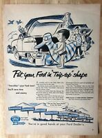 Original Magazine Print Ad 1953 FORD Service Genuine Parts Tip-top shape