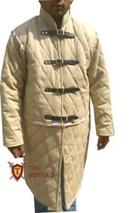 The Medieval Shop Thick Padded Full Sleeves Gambeson Coat Aketon Jacket Armor