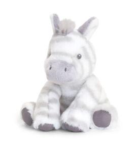 ECO FRIENDLY ZEBRA Teddy Soft Toy - New Born Christening Baby Shower Gift 14cm
