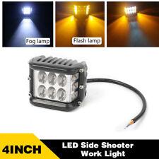 4INCH 45W LED Work Light Bar Pods White & Amber Strobe Offroad For Truck 4WD ATV