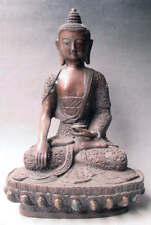 "11.4"" Old Tibet Tibetan Purple Bronze Shakyamuni Buddha Statue"