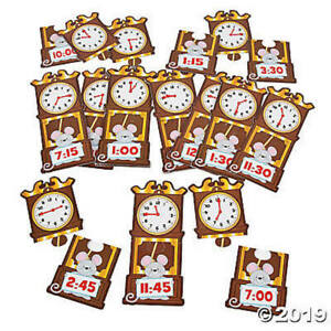 Time Matching Puzzles Educational Classroom Learning Toys Teacher Resources Tool
