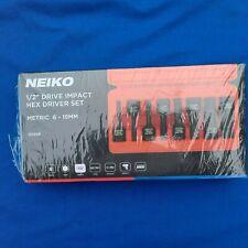 "NIEKO 01136B 1/2"" DR HEX Bit 8pc Socket Set, Metric, 6mm to 19mm - NIB"