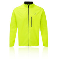 Ronhill Everyday Mens Yellow Long Sleeve Full Zip Running Sports Jacket Top