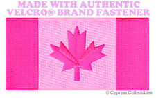 CANADA FLAG EMBROIDERED PATCH CANADIAN PINK VERSION w/ VELCRO® Brand Fastener