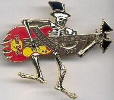 Hard Rock Cafe MELBOURNE 1999 HALLOWEEN PIN Skeleton Guitar  - HRC Catalog #5532