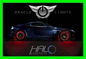 RED LED Wheel Lights Rim Lights Rings by ORACLE (Set of 4) for PONTIAC MODEL 1