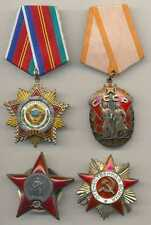 Russian Soviet WWII Orders & Medals & Badges Docs Group