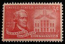 1957 3c Alexander Hamilton, Founding Father, Treasury Scott 1086 Mint F/VF NH