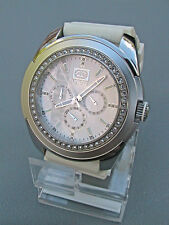 """NEW MARC ECKO MEN'S """"The UNLTD Free White"""" SILVER STAINLESS CHRONOGRAPH WATCH"""