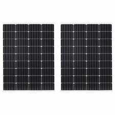vidaXL 2x Solar Panel Monocrystalline Aluminium Safety Glass 100W Energy Panel