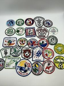 Lot Of 27 Vintage 1990's SOCCER PATCHES Club Tournament Great Set B