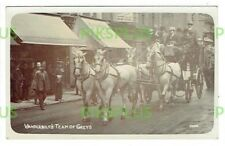 OLD POSTCARD THE VANDERBILT COACH EDWIN COOK REAL PHOTO FULHAM ROAD LONDON C1905