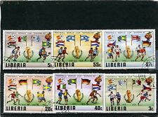 LIBERIA 1981 Sc#886-891 SOCCER WORLD CUP SPAIN SET OF 6 STAMPS CTO