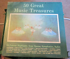 50 Great Music Treasures 50 Famous Highlights From Operas, Symphonies, Ballet NM
