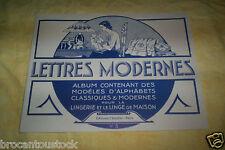 OUVRAGE DE BRODERIE MODELES D'ALPHABETS ET MONOGRAMMES