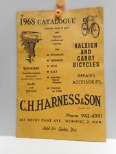 Vintage  1968 C.H. HARNESS & SON Catalogue - RALEIGH & GARRY BICYCLES - WINNIPEG
