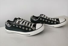 Converse black canvas double tongue layer trainers shoes UK 8 EU 41.5