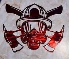 Fire Fighter With Axe Axes Fireman Metal Wall Art Home Decor Gift Idea