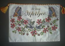 Rosemaling pillow sham cover satin handpainted cord and tassel trim